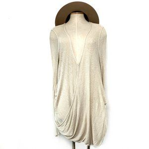 FREE PEOPLE knit cream faux wrap top